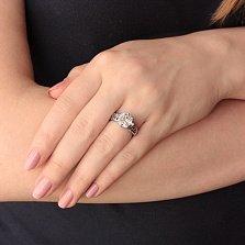 Кольцо из серебра с фианитами Мальвина