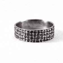 Кольцо из серебра Fibers с чернением