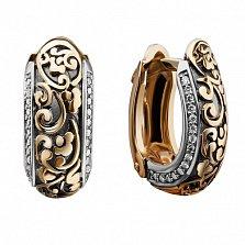 Золотые серьги Версаль