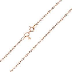 Золотая цепочка Карлетта в комбинированном цвете