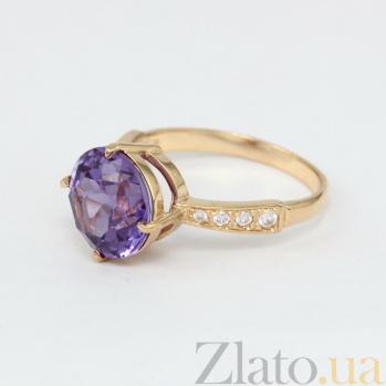 Золотое кольцо с александритом и фианитами Эстель VLN--112-1306-9