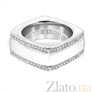 Золотое кольцо с топазами и эмалью Утро и вечер 000029771