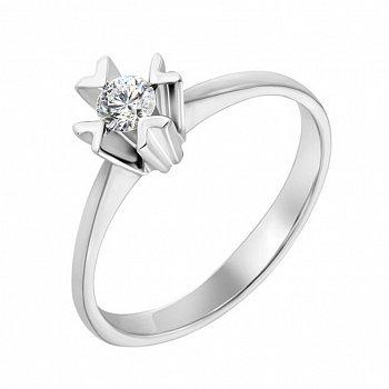 Кольцо в белом золоте с бриллиантом 000119649
