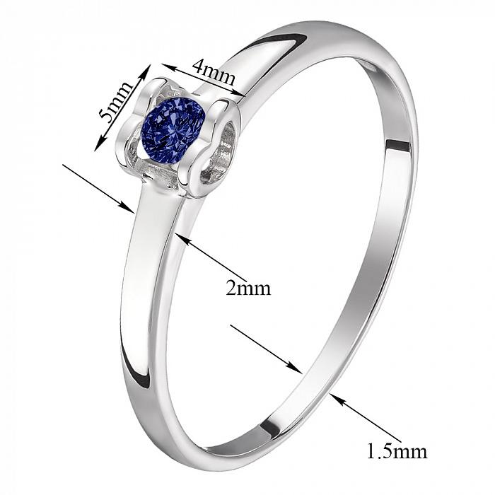 Кольцо в белом золоте Желание сердца с сапфиром 000031537