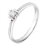 Помолвочное кольцо Чувство в белом золоте с бриллиантом