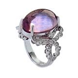 Золотое кольцо с бриллиантами и аметистом Avalanche