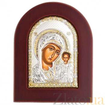 Икона Казанской Божьей Матери серебро с позолотой AQA-MA/E1106EX