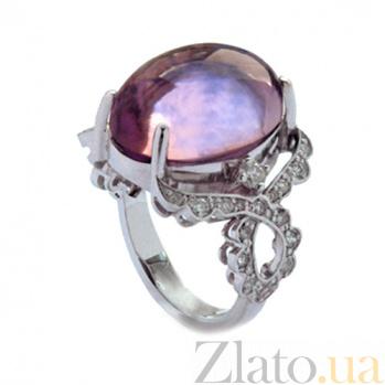 Золотое кольцо с бриллиантами и аметистом Avalanche ZMX--RDAm-00495w