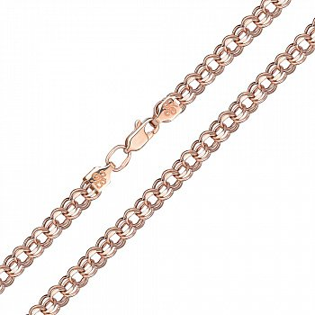 Золотой браслет Деннис в красном цвете и плетении бисмарк 000128019