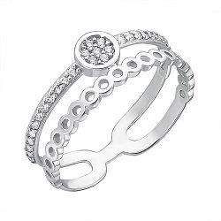 Серебряное кольцо с фианитами 000126552