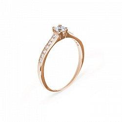 Кольцо в красном золоте Безупречность с бриллиантами