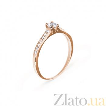 Кольцо в красном золоте Безупречность с бриллиантами 000079304