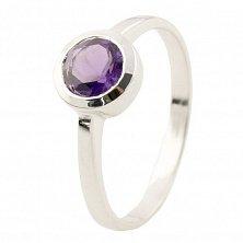 Серебряное кольцо Лина с аметистом