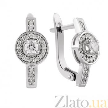 Золотые серьги с бриллиантами Сусанна KBL--С2178/бел/брил
