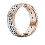 Обручальное кольцо Калейдоскоп Любви: Карусель мечты из розового и белого золота с бриллиантами