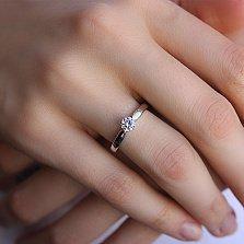 Кольцо из белого золота с фианитом Яркое мгновение