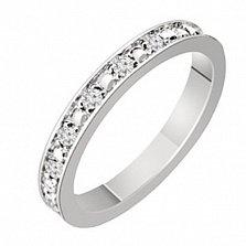 Золотое обручальное кольцо с бриллиантами Сабина