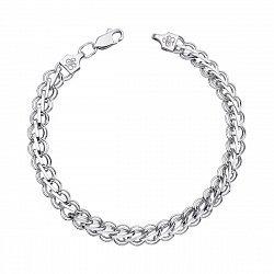 Серебряный браслет фантазийного плетения 000134101