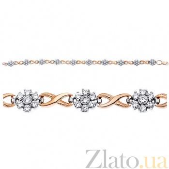 Золотой браслет с цирконием Элизабет AUR--35015
