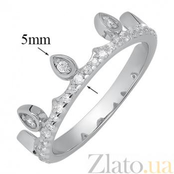 Серебряное кольцо Корона принцессе HUF--500038-Р