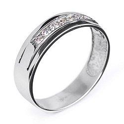 Обручальное кольцо с бриллиантами 000005826