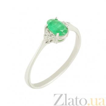 Золотое кольцо с изумрудом и бриллиантами Жаклин 1К551-0259