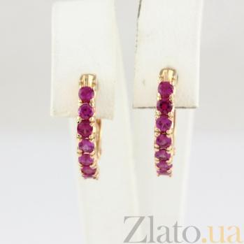 Серьги из красного золота с рубинами Passion VLN--123-1556-13