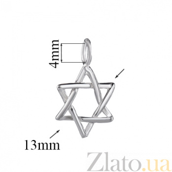 Серебряный кулон Звезда Иерусалима LEL--62101