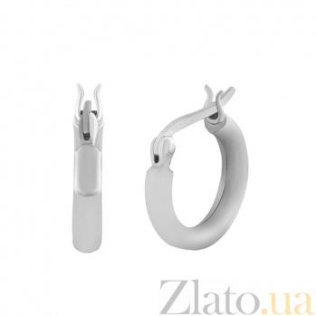 Серьги-кольца из серебра Аделисия  000025035