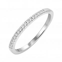 Серебряное кольцо Лунный луч с фианитами