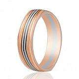 Золотое обручальное кольцо Ла Дефанс