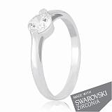 Серебряное кольцо Сиа с цирконием SWAROVSKI ZIRCONIA
