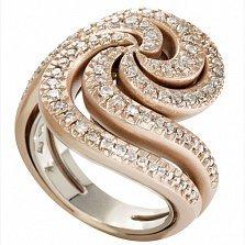 Кольцо Iris из розовог золота с бриллиантами