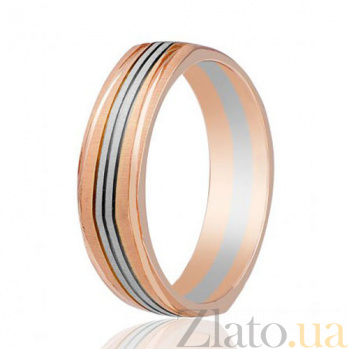 Золотое обручальное кольцо Ла Дефанс 000001666