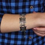 Серебряный браслет Мирабелла с родиевым покрытием