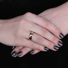 Серебряное обручальное кольцо с позолотой Союз двух