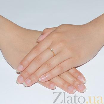 Кольцо из желтого золота с бриллиантом Алекса R0564Ж