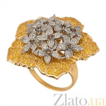 Кольцо из желтого золота Букет с фианитами VLT--ТТ1191