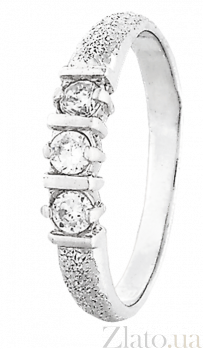 Серебряное кольцо с цирконием Флавия 000025709