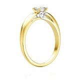 Кольцо с бриллиантом Мой милый ангел: Бережное касание из желтого золота