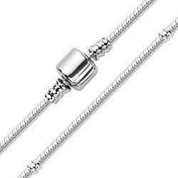 Серебряный браслет для шармов с родированием 000122844