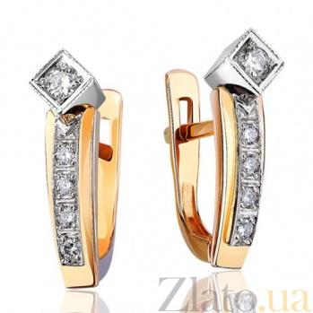 Золотые серьги с бриллиантами Маргарет EDM--С7412