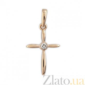 Декоративный крестик Мария SVA--3100841101/Фианит/Цирконий