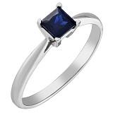 Золотое кольцо Синтия с сапфиром