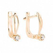 Золотые серьги с бриллиантами Марианна