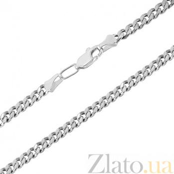 Серебряная цепочка чернёная Панцирная, 3мм 000017340