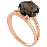 Золотое кольцо с раухтопазом Дамира