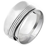 Серебряное кольцо Воронка