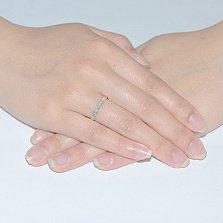 Кольцо обручальное с фианитами Сьюзен