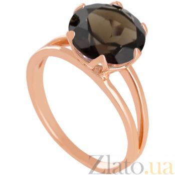 Золотое кольцо с раухтопазом Дамира 000024489